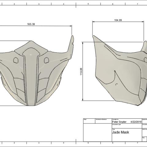 Download 3d Printer Files Mortal Kombat 11 Jade Or Skarlet Mask