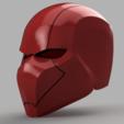 Plan 3D Casque Rouge Capuche Batman Version 3, killonious