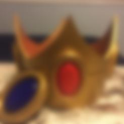 Download free 3D printing templates Princess Peach Crown Mario Brothers, VillainousPropShop