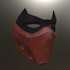 stl Masque capuche rouge version 2, VillainousPropShop