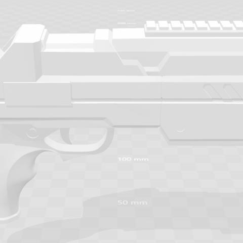 Harley Quinn's Gun Injustice 2.png Download STL file Harley Quinn Injustice 2 Gun • Template to 3D print, VillainousPropShop