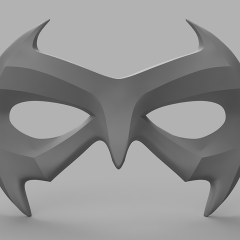 Nightwing Mask.png Download STL file Nightwing Chest Armor with Free Mask • 3D print design, VillainousPropShop
