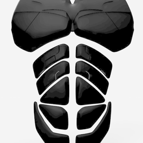Free 3D model The Dark Knight Rises Batman Abs Plates, VillainousPropShop