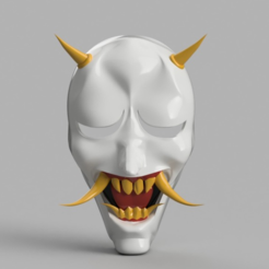 Download free 3D print files Hannya Mask Rurouni Kenshin (Ninja), VillainousPropShop