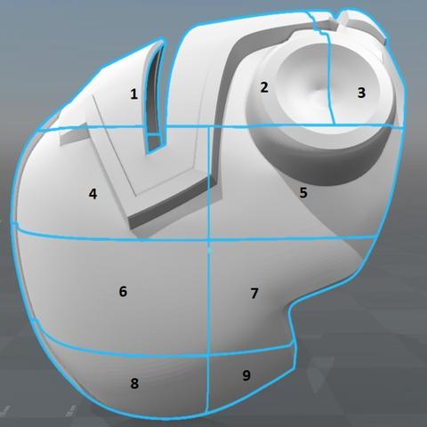 Capture d'écran 2017-09-15 à 12.07.06.png Download free STL file Blood Dragon Helmet Mass Effect 2 • Design to 3D print, VillainousPropShop