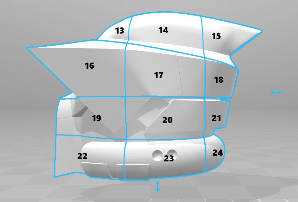 split2.png Download STL file ARF Trooper Helmet • 3D print object, VillainousPropShop