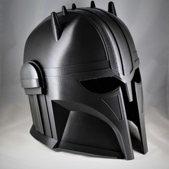 IMG_0991.JPG Download OBJ file The Armorer Helmet • 3D printable design, VillainousPropShop