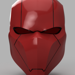Red Hood Helmet v3.png Download STL file Red Hood Helmet Batman Version 3 • 3D printing template, VillainousPropShop