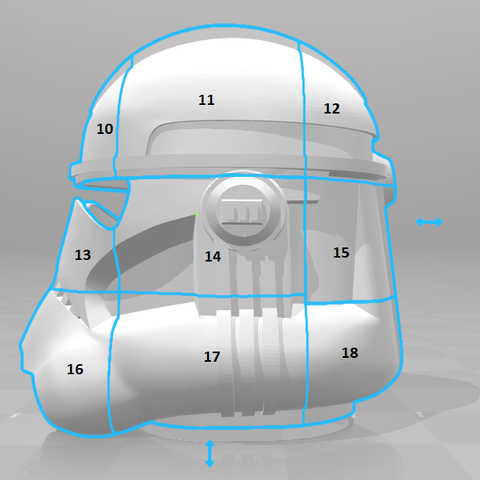 split2.png Télécharger fichier STL gratuit Clone Trooper Casque Phase 2 Star Wars • Plan pour impression 3D, VillainousPropShop