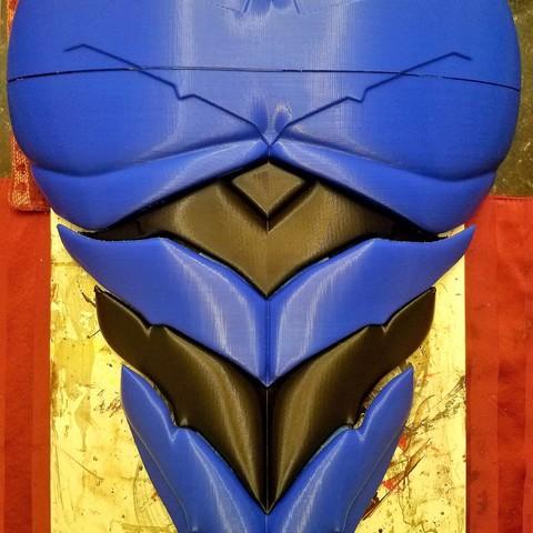 plan 3d Armure de poitrine rouge Batman, VillainousPropShop
