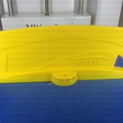Download free 3D printer designs Sparta yellow plate, MaterialsToBuils3D