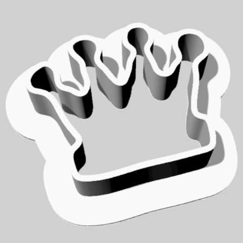 Download free 3D printer model Cookie cutter Crown, Goedkope3Dfilamenten