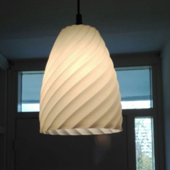 Download free STL files Rotation folded lamp shade, Goedkope3Dfilamenten