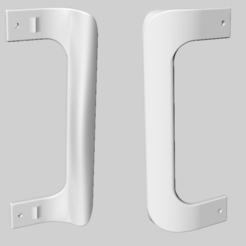 Free 3d printer files refrigerator or freezer handle, Goedkope3Dfilamenten