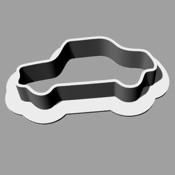 car.png Download free STL file Cookie cutter auto car • 3D printing template, MaterialsToBuils3D