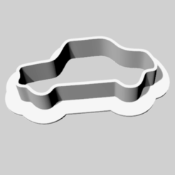 Download free 3D printing files Cookie cutter auto car, Goedkope3Dfilamenten