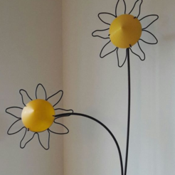 Free 3d printer model Lamp shade sunnflower, Goedkope3Dfilamenten
