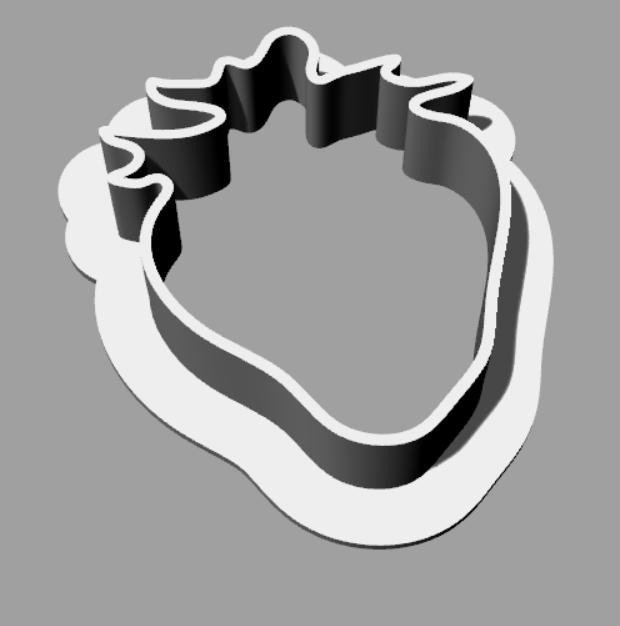 strawberry.png Télécharger fichier STL gratuit Un coupe-biscuits en forme de fraise • Modèle pour imprimante 3D, MaterialsToBuils3D