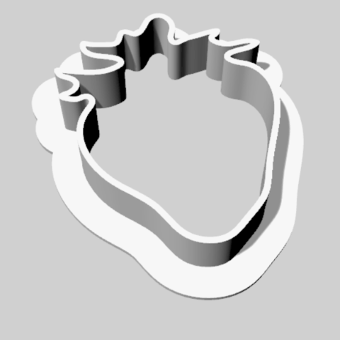Download free 3D model A cookie cutter in the shape of a strawberry, MaterialsToBuils3D