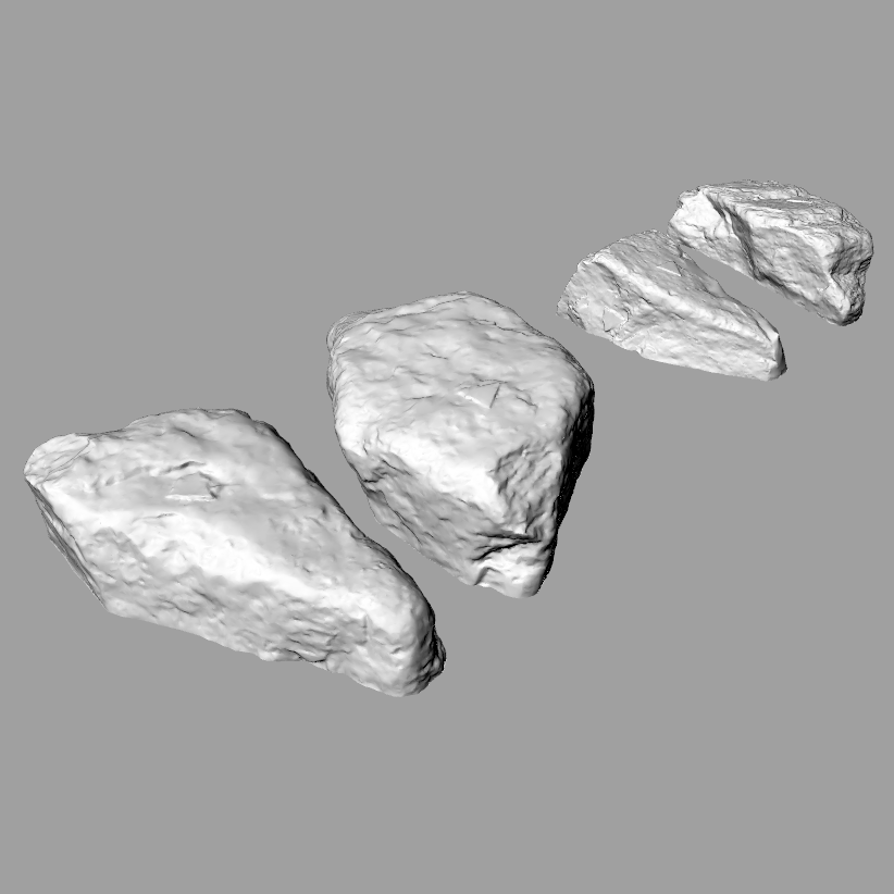 stones.png Download free STL file Two stones/rocks • 3D printing design, MaterialsToBuils3D