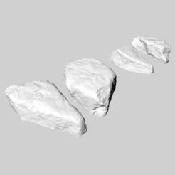 Download free 3D printer templates Two stones/rocks, Goedkope3Dfilamenten