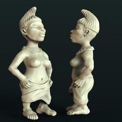 Download free 3D model African statue, stl3dmodel