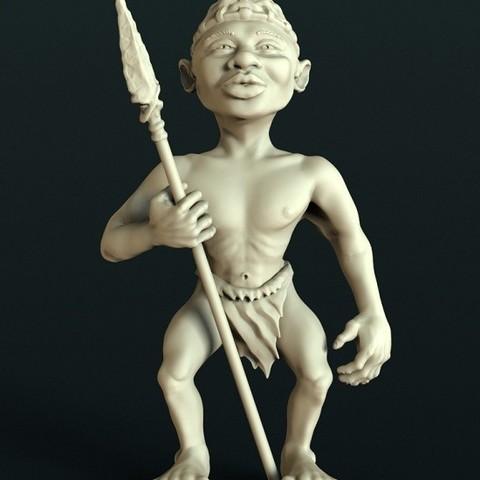 Download free STL file African statue • 3D printer design, stl3dmodel