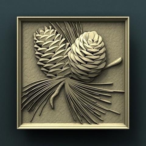 Download free 3D print files Pine con, stl3dmodel