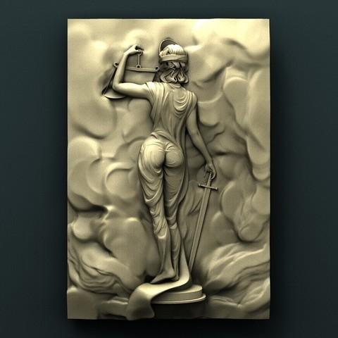 Download free 3D printing designs Face of Justice, stl3dmodel