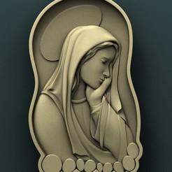 3d model Virgin Mary, Agorbar