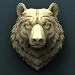 3d printer files Bear Head, Agorbar