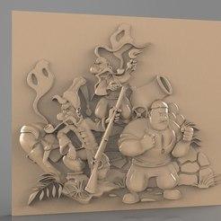 Fichier imprimante 3D gratuit amis prêts à se battre cnc, stl3dmodel