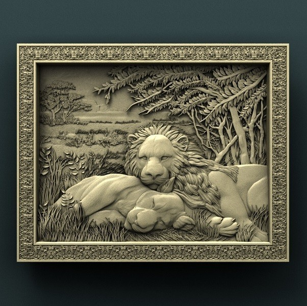 941. Panno.jpg Download free STL file Lions • 3D printing object, stl3dmodel