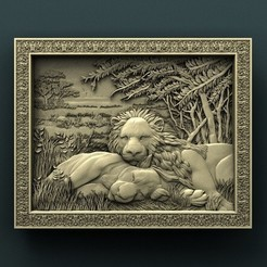 Download free 3D printing designs Lions, stl3dmodel