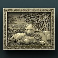 Télécharger objet 3D gratuit Lions, stl3dmodel