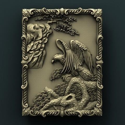 Download free STL file Eagle • 3D printable object, stl3dmodel