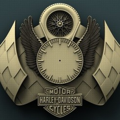 stl Harley Davidson Wall Clock, Agorbar