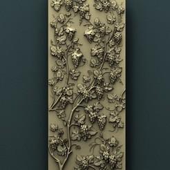 Imprimir en 3D gratis Panel de pared de uva, stl3dmodel