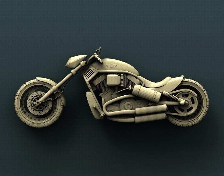 B186.jpg Download free STL file Harley Davidson  • 3D printer model, stl3dmodel