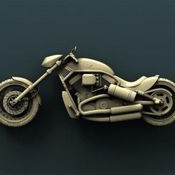 B186.jpg Télécharger fichier STL gratuit Harley Davidson • Objet pour imprimante 3D, stl3dmodel