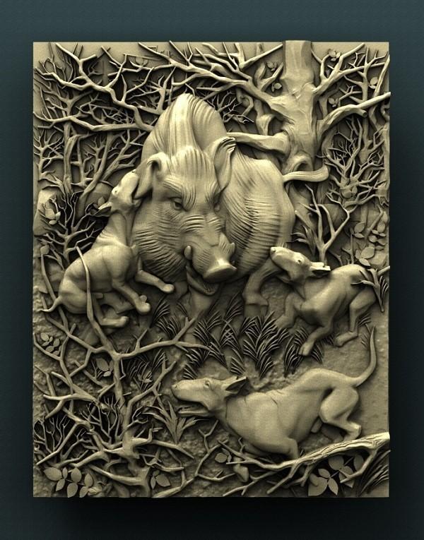 1137. Wild boar.jpg Download free STL file Boar • 3D printable design, stl3dmodel