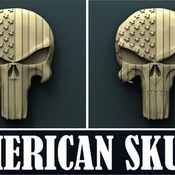 stl files American skull, Agorbar
