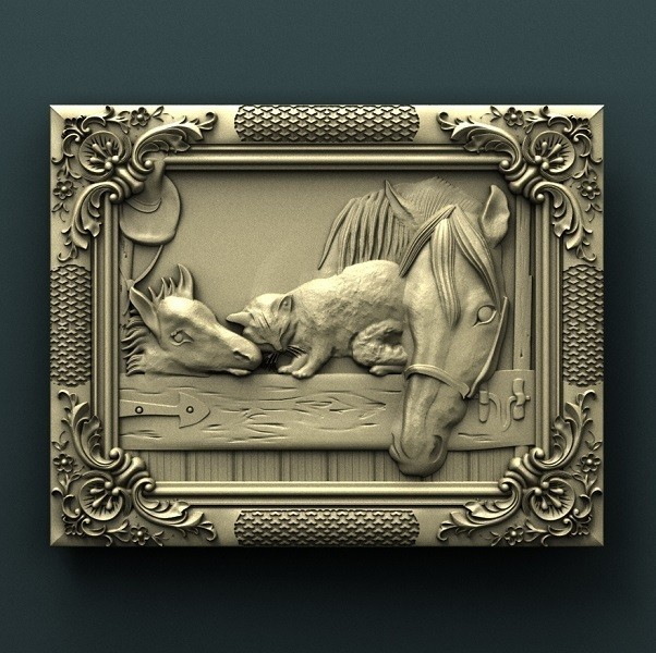 914. Panno.jpg Download free STL file Horses • 3D printable design, stl3dmodel