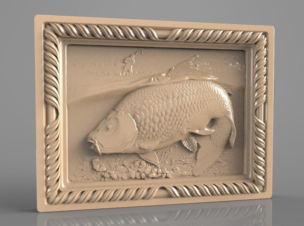 8.jpg Download free STL file fishing trout salmon fisherman cnc router art • 3D print design, stl3dmodel
