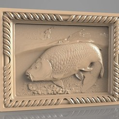 Free STL fishing trout salmon fisherman cnc router art, stl3dmodel