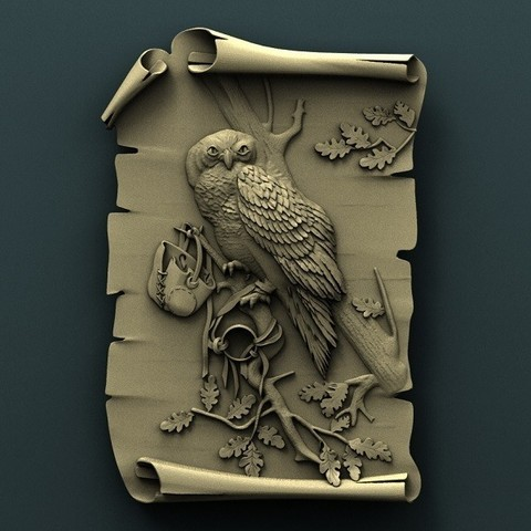 Download free 3D printing files Owl, stl3dmodel