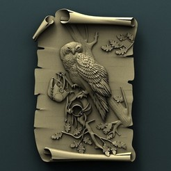 Download free STL file Owl • 3D printer design, stl3dmodel