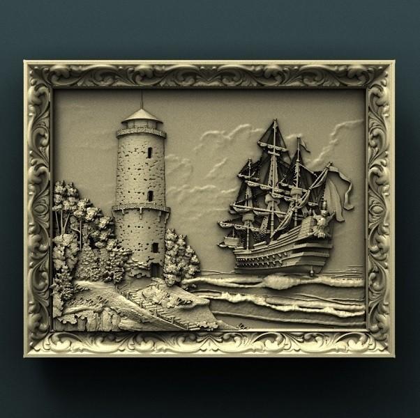 925. Panno.jpg Download free STL file Sea • 3D printer model, stl3dmodel
