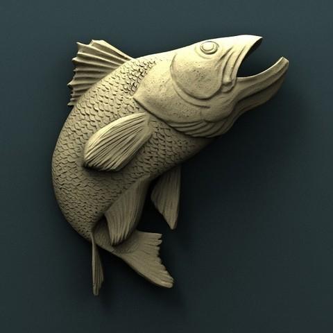 Free 3D printer model Fish, stl3dmodel