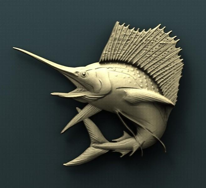 B182.jpg Download free STL file Swordfish • 3D printable template, stl3dmodel